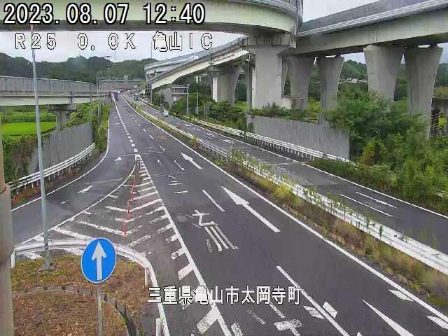 名古屋方面ランプ(亀山IC)の拡大画面