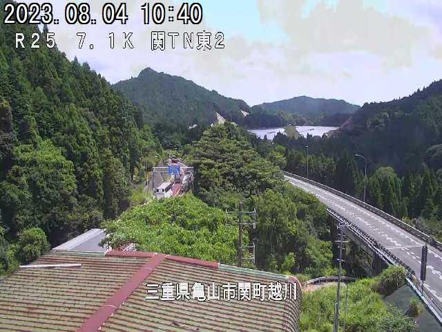 越川大橋(関トンネル東)の拡大画面