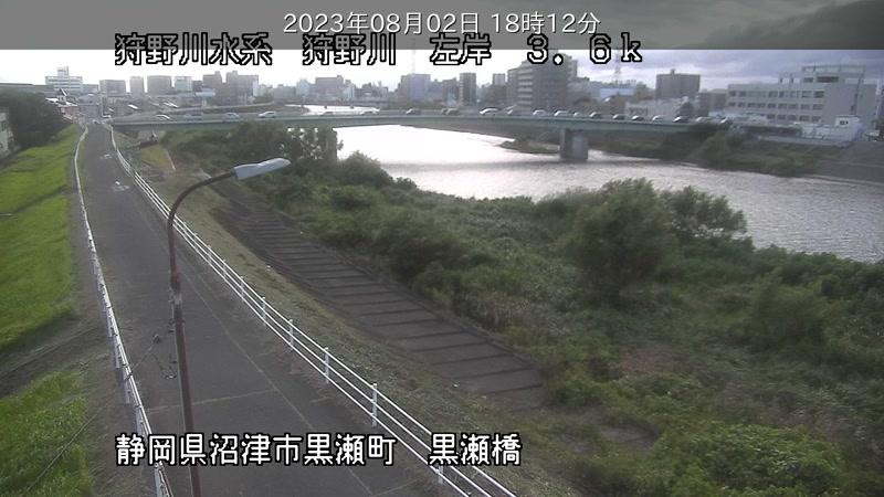 リアルタイム防災情報/ライブカメラ「狩野川下流」
