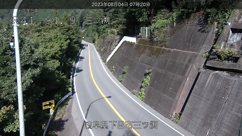 国道41号[下呂市地内 三ッ渕]ライブカメラ